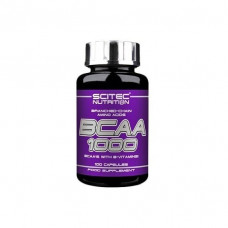 БЦАА 1000, Scitec Nutrition, BCAA, 1000 мг, 100 капсул