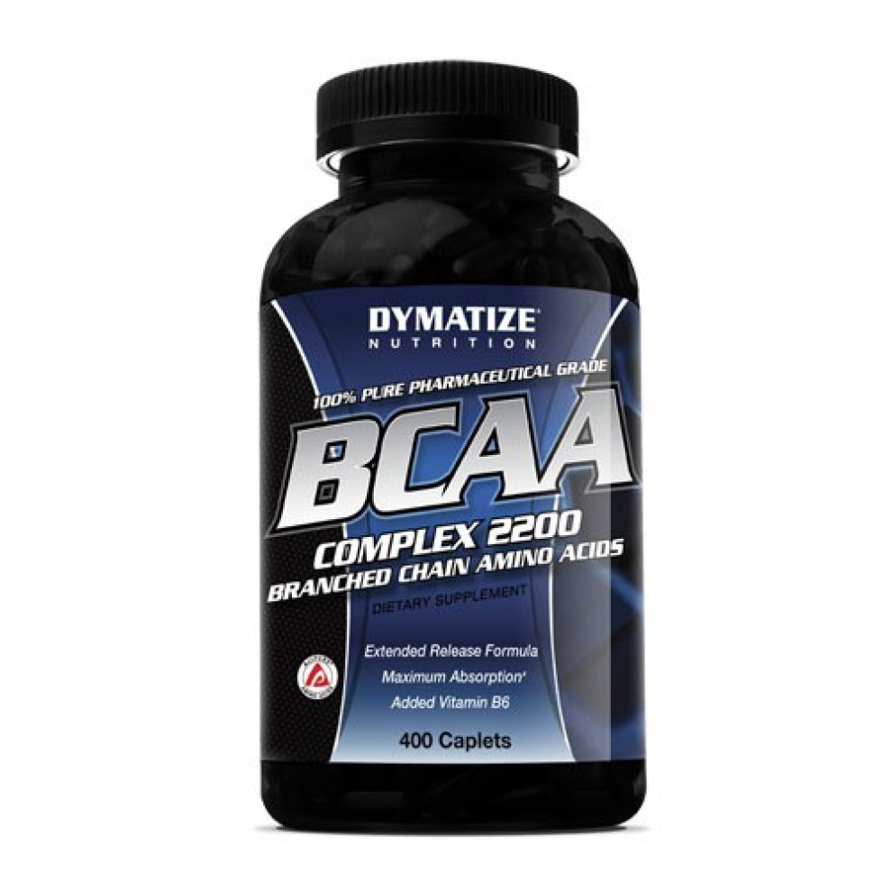 БЦАА 2200, Dymatize, BCAA, 2200 мг, 200 капсул