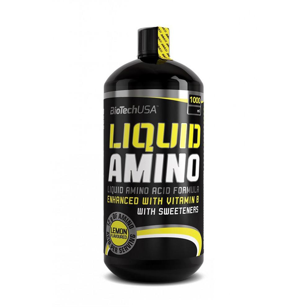 Амино, BioTechUSA, Amino Liquid, (лимон), 1000 мл