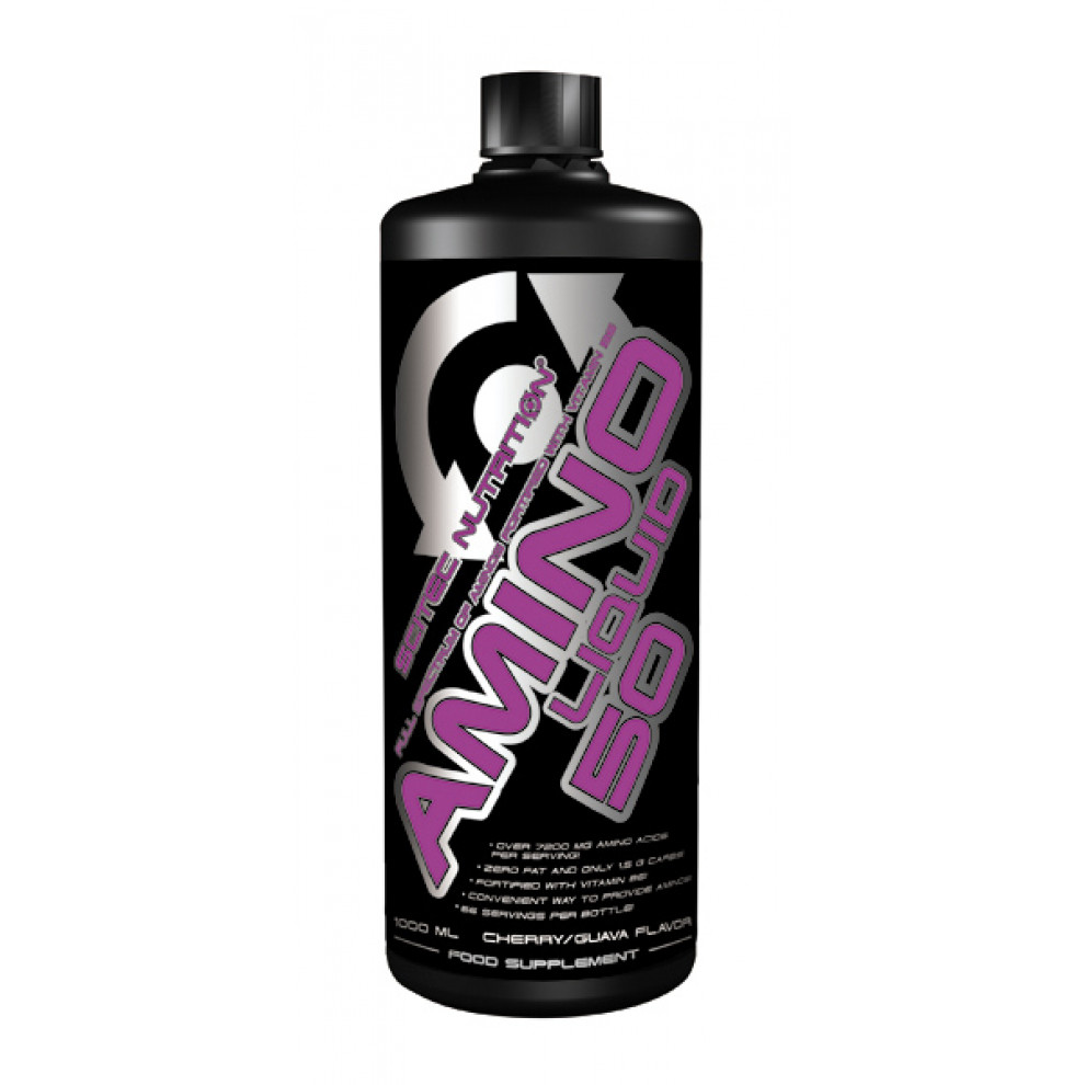 Аміно, Scitec Nutrition, Amino Liquid, (вишня-гуава), 1000 мл