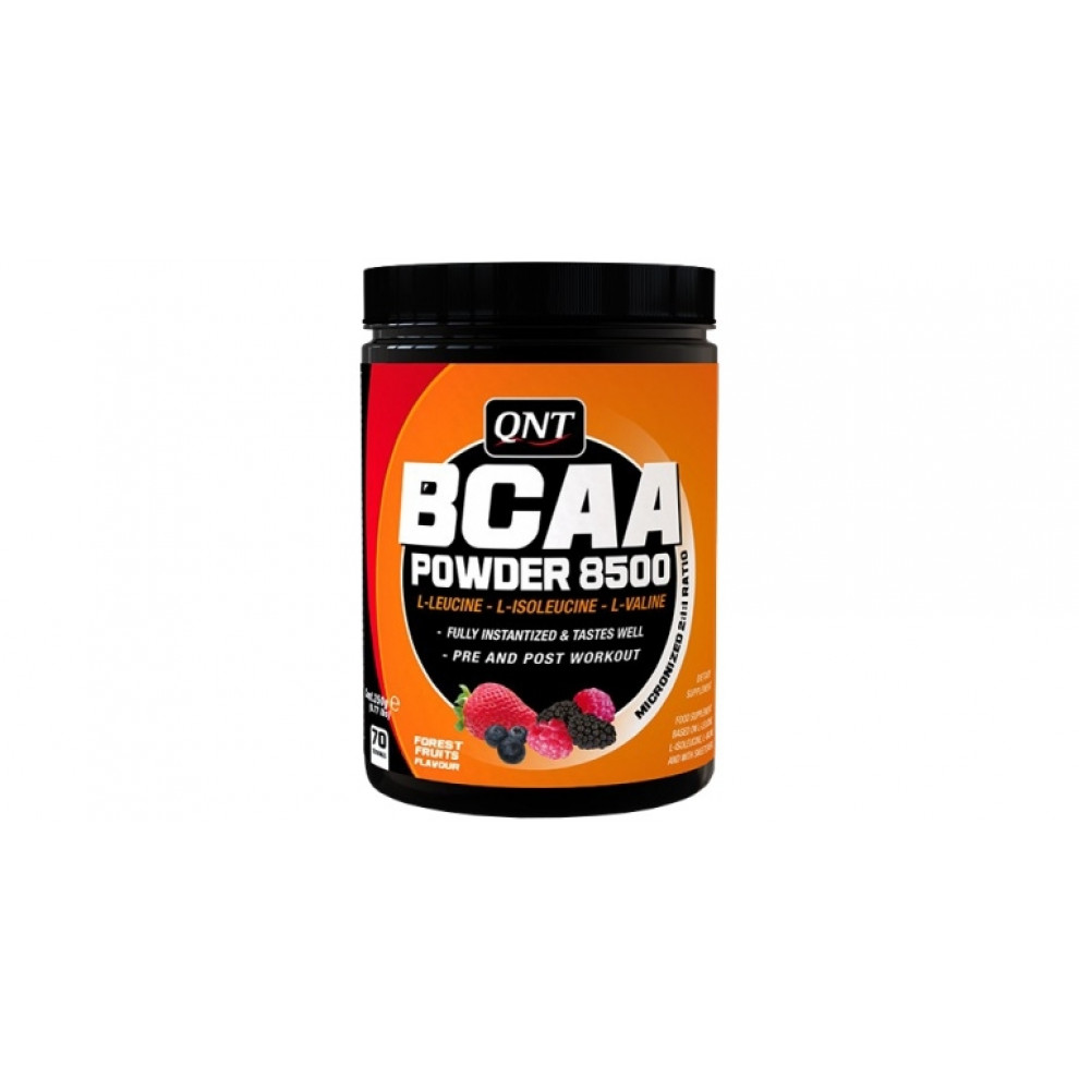 БЦАА, QNT, BCAA powder 8500, (лесные ягоды), 350 г