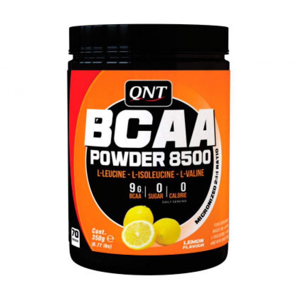 БЦАА, QNT, BCAA powder 8500, (лимон), 350 г