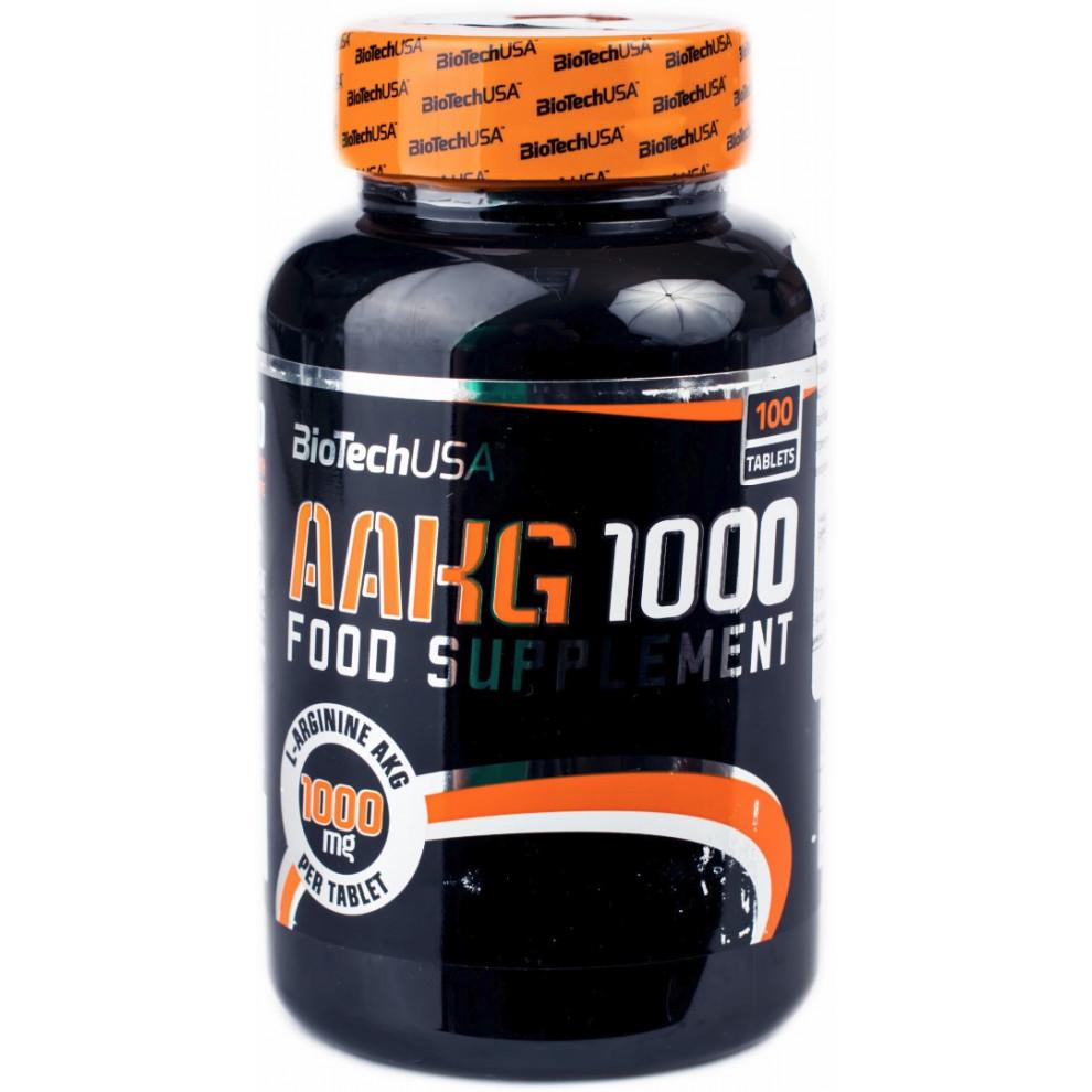 L-аргинин, BioTechUSA, L-arginine, 100 таблеток, 1000 мг