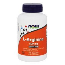 L-аргинин, Now Foods, L-Arginine, 500 мг, 100 капсул