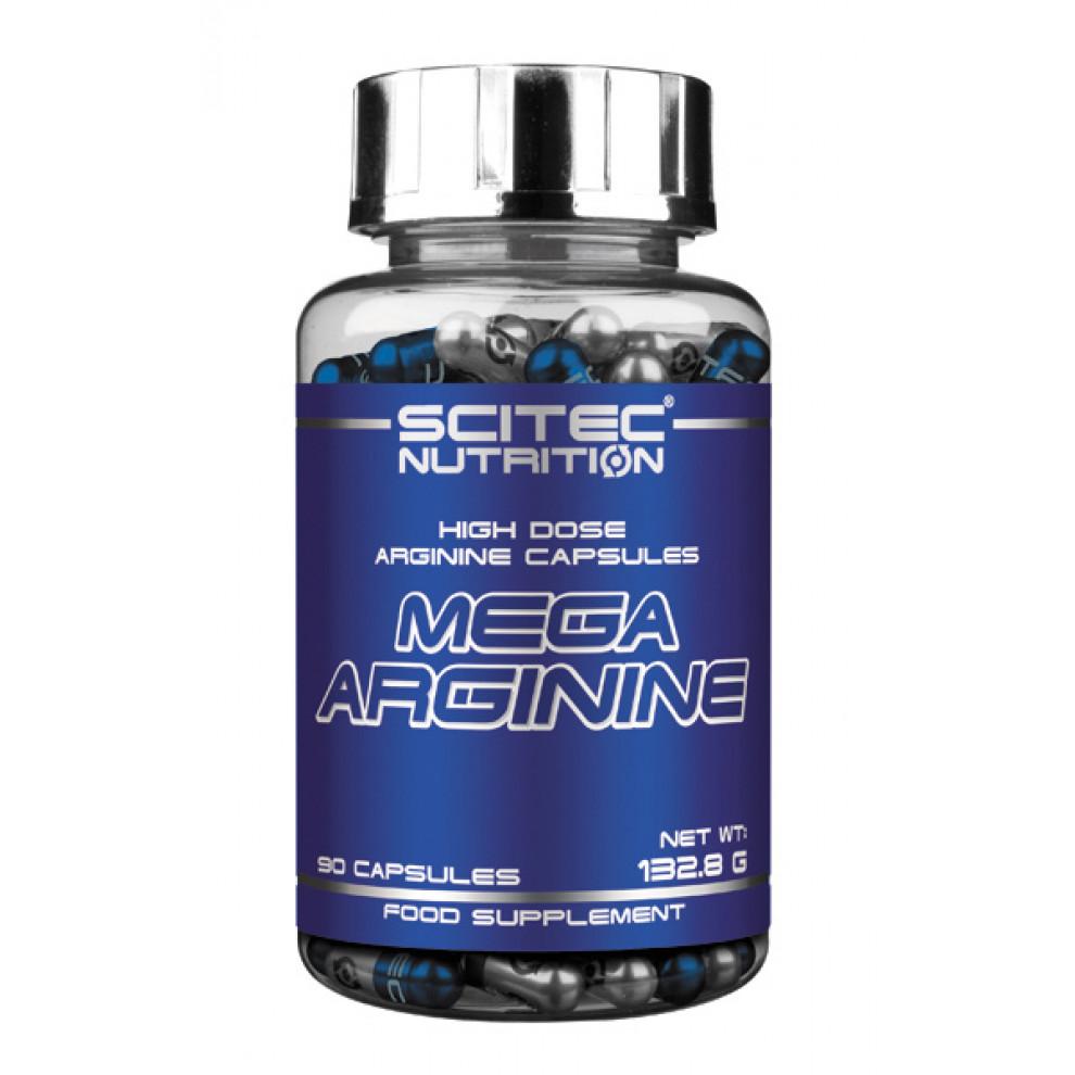 Мега Аргінін, Scitec, Mega Arginine, 90 капсул, 1300 мг