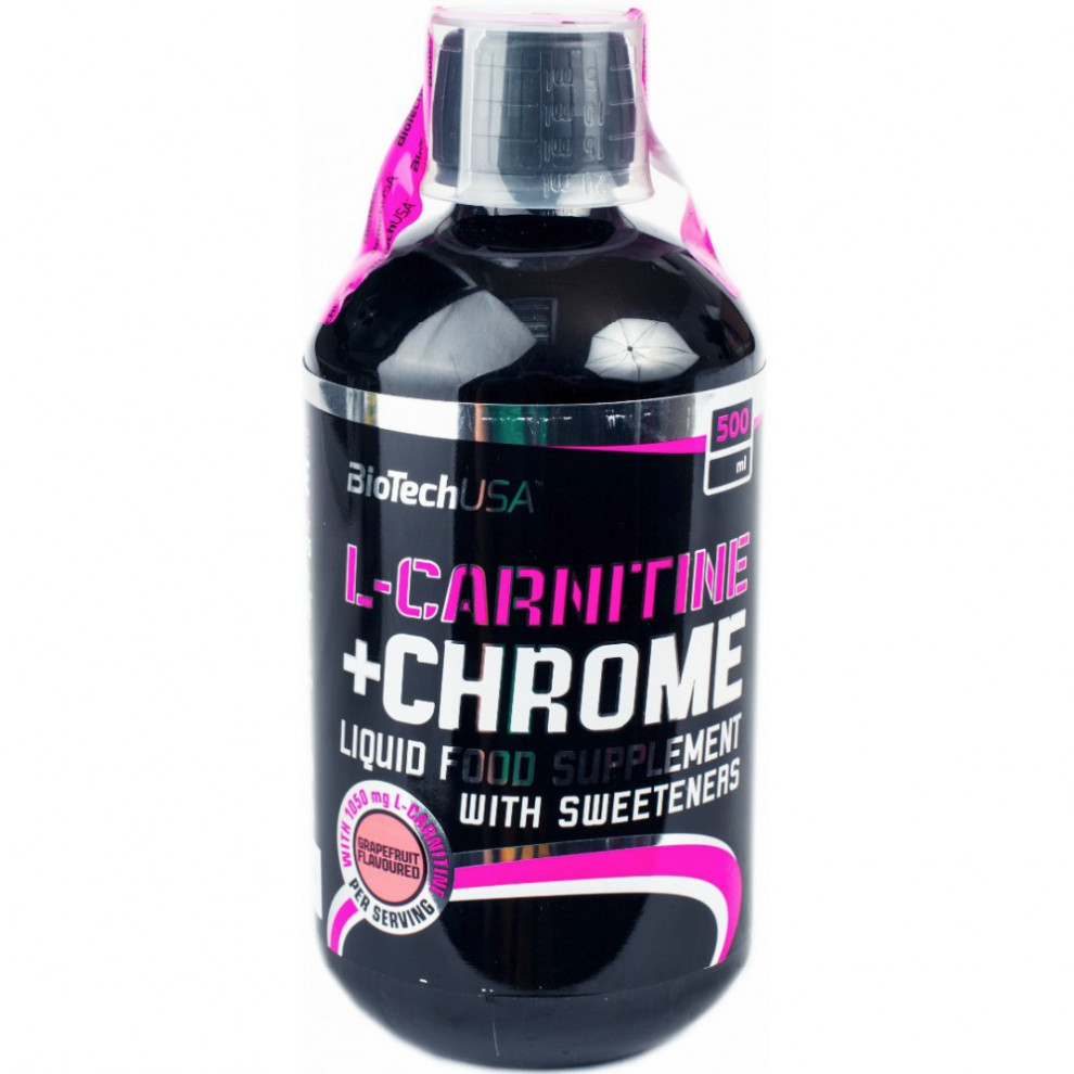 L-Карнітин, BioTechUSA, L-Carnitine+Chrome Liquid 1050 Grapefruit, 500 мл