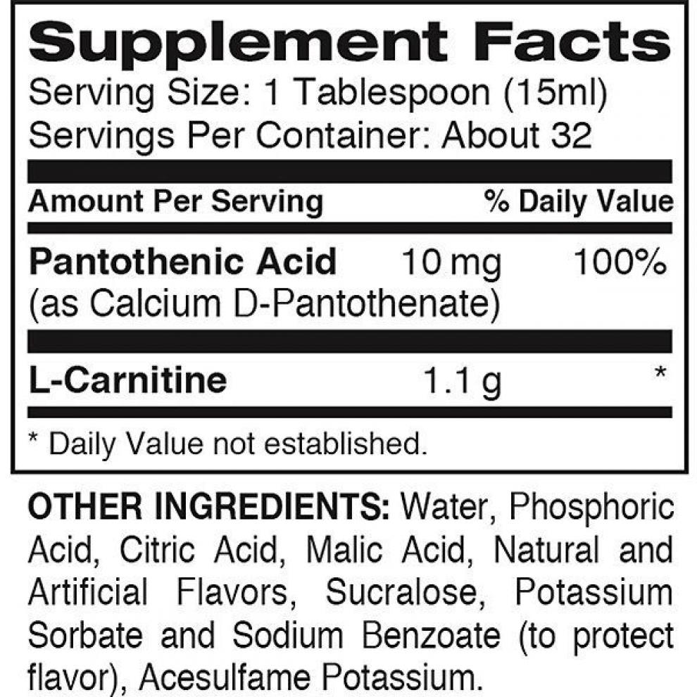 L-Карнітин, Dymatize, L-Carnitine Liquid 1100 orange, 473мл