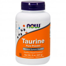 Таурин в порошку, Now Foods, Taurine pure powder, 227 г