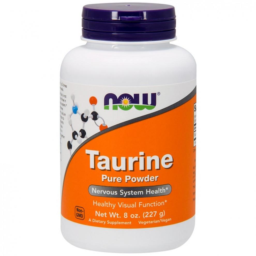 Таурин в порошке, Now Foods, Taurine pure powder, 227 г