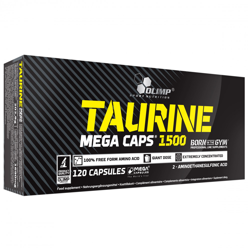 Таурин, Olimp Labs, Taurine, 1500 мг, 30 капсул