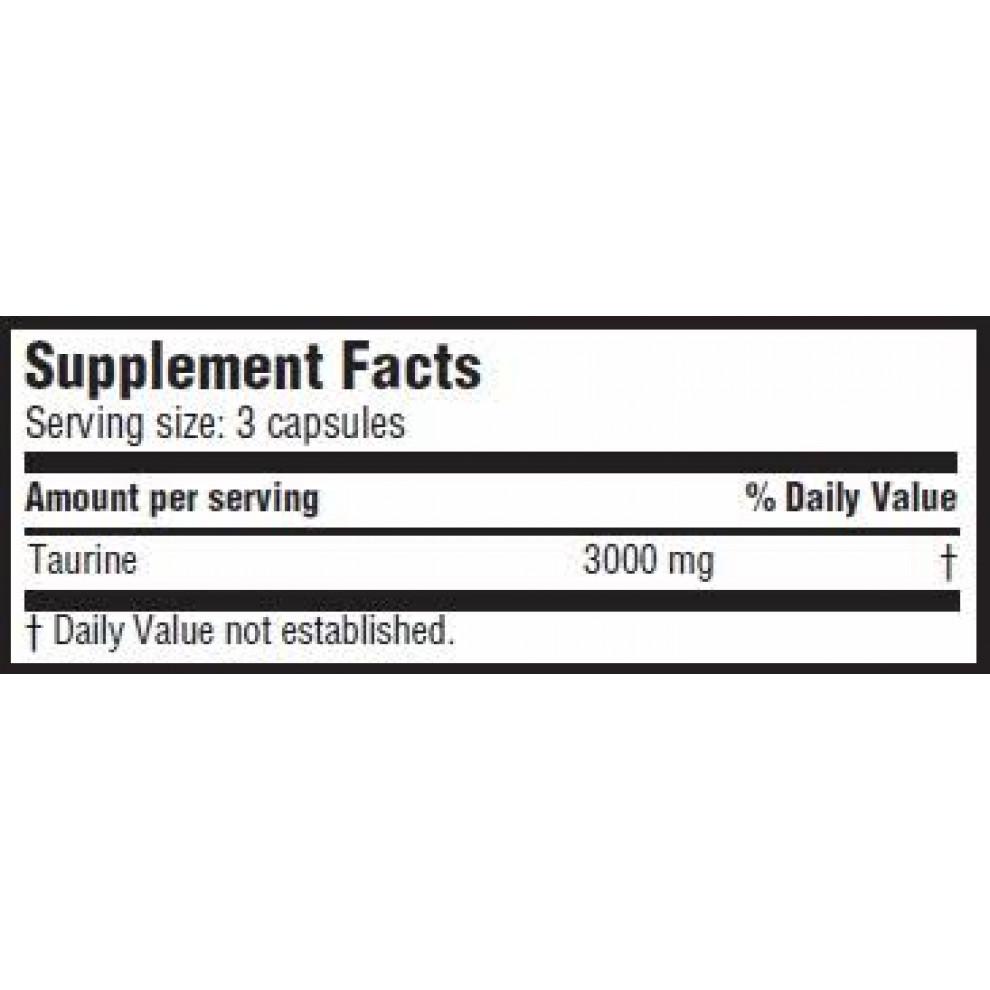 Таурин, Scitec, Taurine, 90 капсул 3000 мг