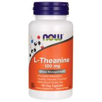 L-Тіанін, Now Foods, L-Theanine, 100 мг, 90 капсул