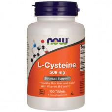 L-Цистеин, Now Foods, L-Cysteine, 500 мг, 100 таблеток