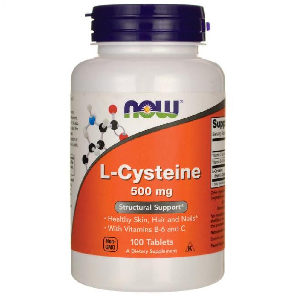 L-Цистеїн, Now Foods, L-Cysteine, 500 мг, 100 таблеток