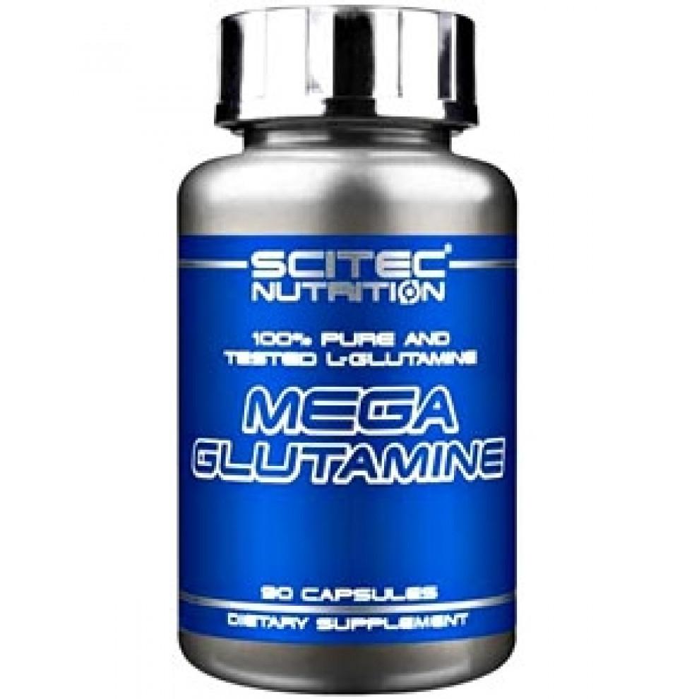 Мега Глютамин, Scitec, Mega Glutamine, 90 капсул, 2800 мг