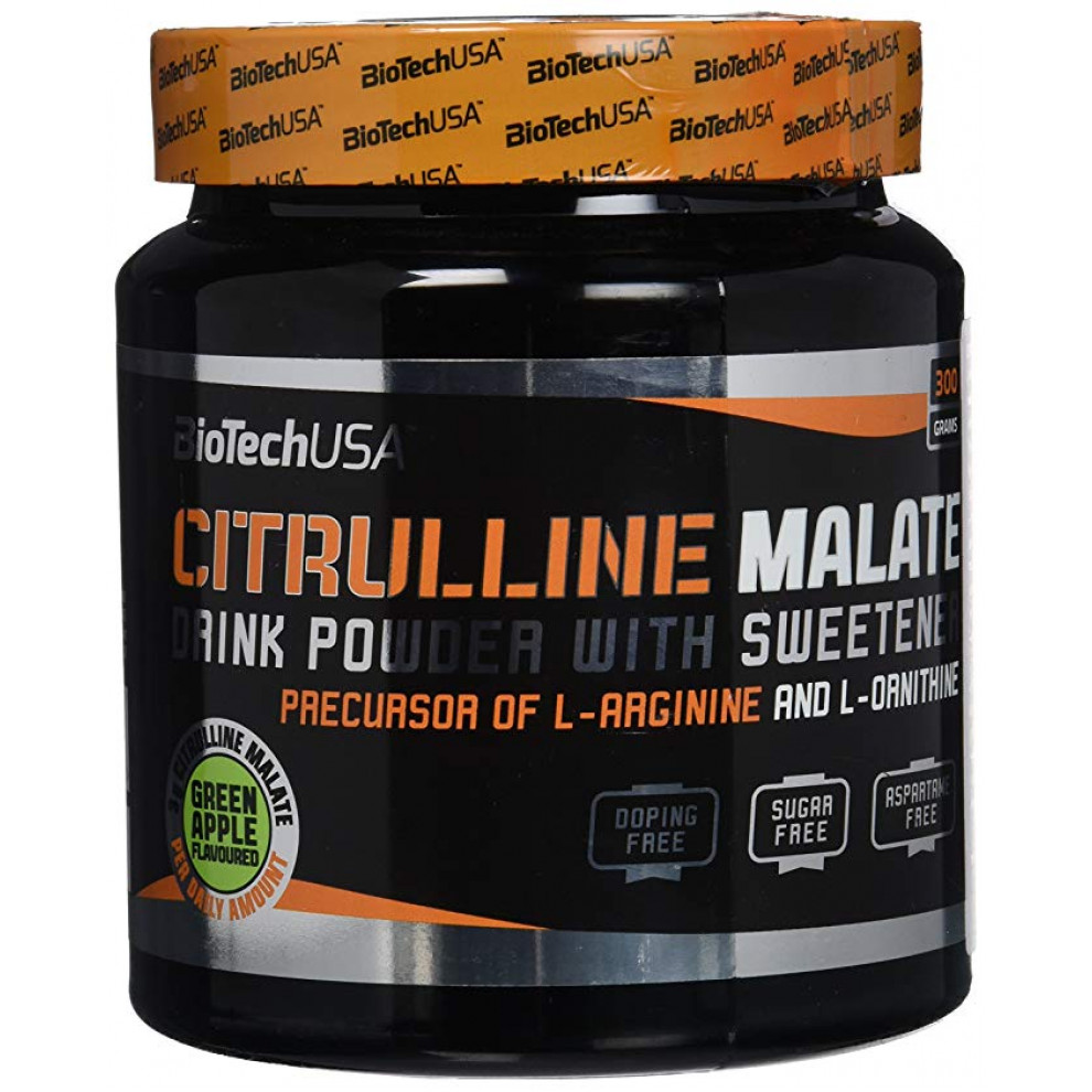Цитруллин маалат, BiotechUSA, Citrulline Malate, Green apple 300 г