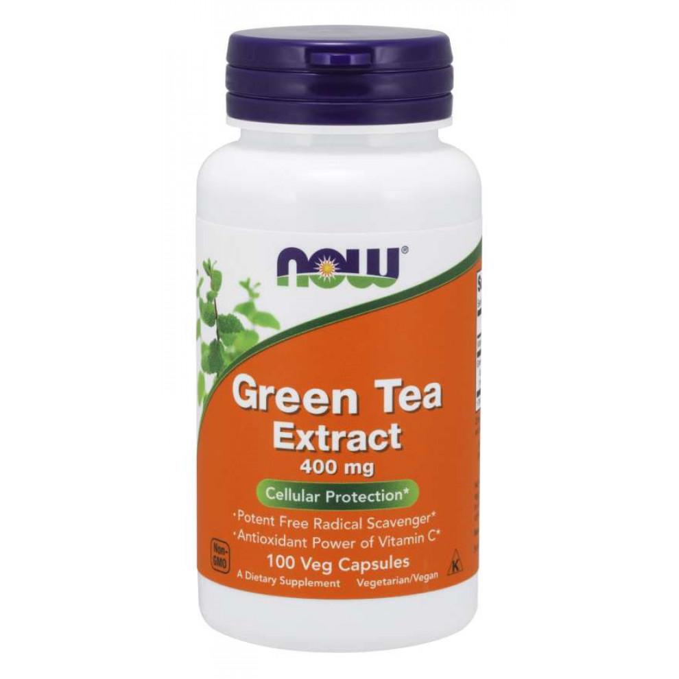 Экстракт зеленого чая, Now Foods, Green Tea Extract, 400 мг, 100 капсул