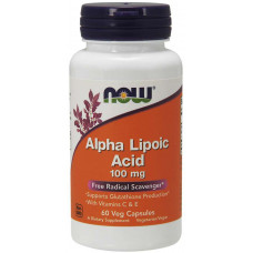 Альфа-липоевая кислота, Noe Foods, Alpha Lipoic Acid, 100 мг, 60 капсул