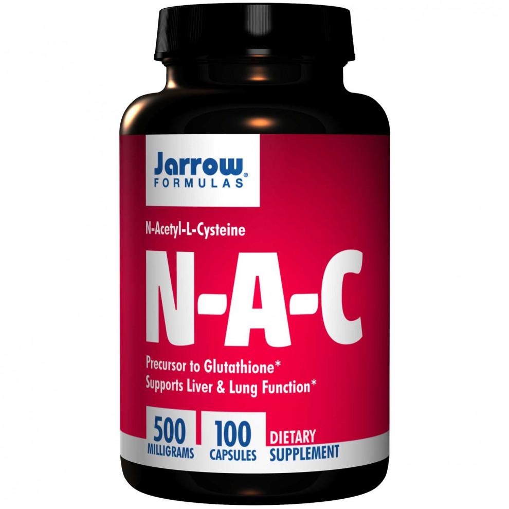 Ацетилцистеїн, Jarrow, NAC (N-acetyl-cysteine), 500 мг, 100 капсул