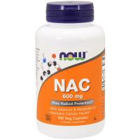 Ацетилцистеин, Now Foods, NAC (N-acetyl-cysteine), 600 мг, 100 капсул