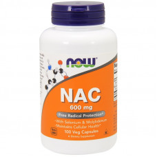 Ацетилцистеїн, Now Foods, NAC (N-acetyl-cysteine), 600 мг, 100 капсул