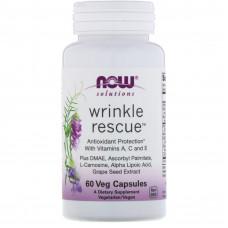 Защита от морщин, Now Foods, Wrinkle rescue, 60 капсул