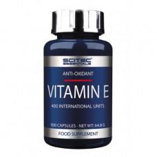 Витамин Е, Scitec, Vitamin E, 400 IU, 100 капсул
