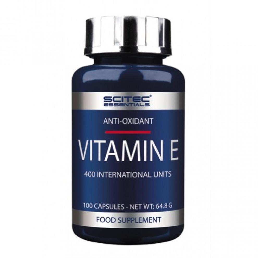 Вітамін Е, Scitec, Vitamin E, 400 IU, 100 капсул