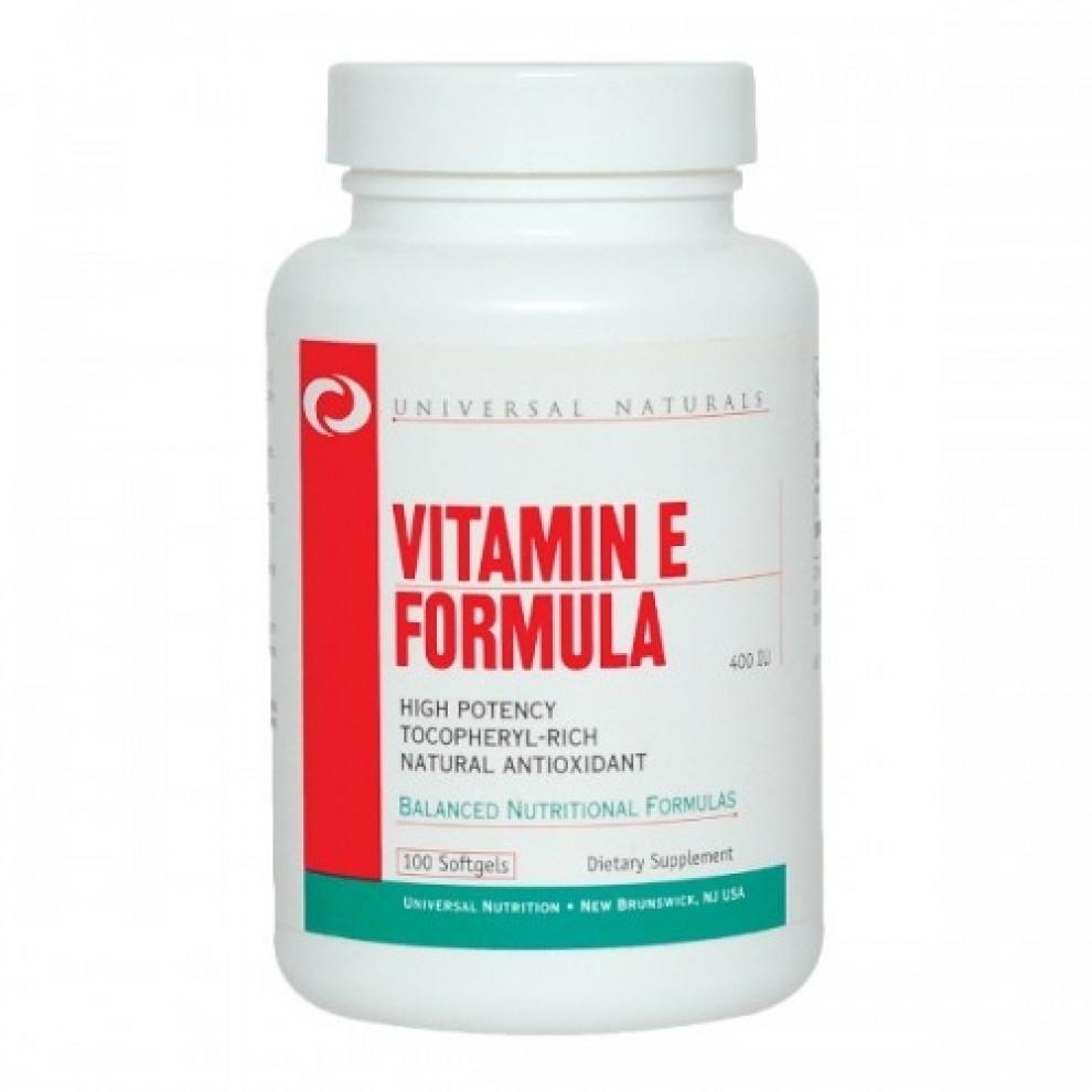 Витамин Е, Universal Naturals, Vitamin E, 100 капсул, 400 мо