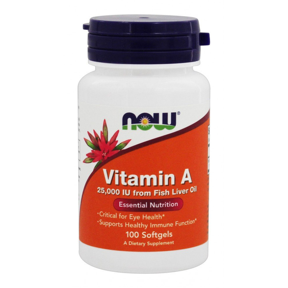 Витамин А, Now Foods, Vitamin A, 25000 IU, 100 капсул