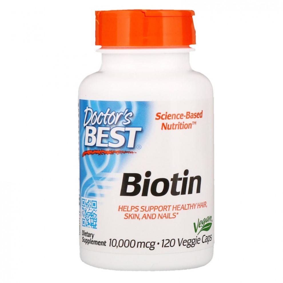 Биотин, Doctor's BEST, Biotin, 10000 мкг, 120 капсул