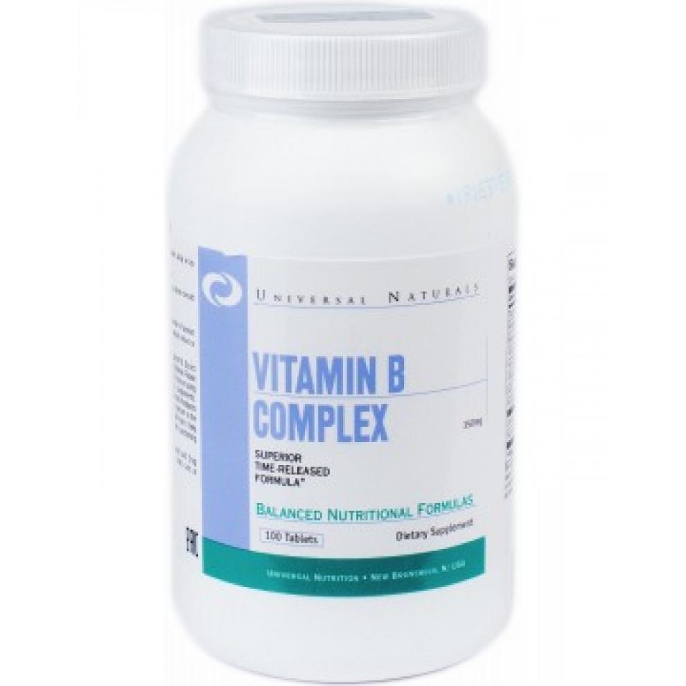 Комплекс витаминов B, Universal Naturals, Vitamin Complex B, 100 таблеток