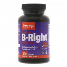Комплекс вітамінів В, Jarrow Formulas, B-right, 100 капсул