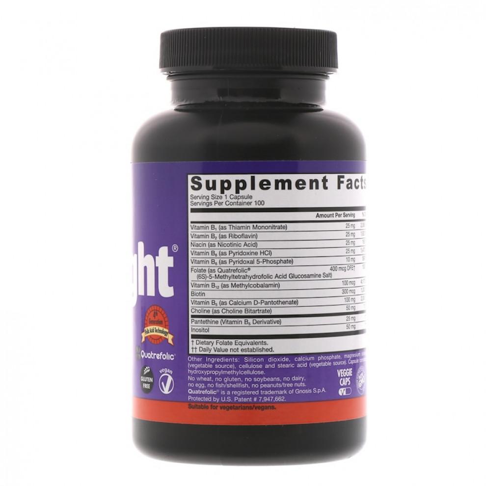 Комплекс витаминов В, Jarrow Formulas, B-right, 100 капсул