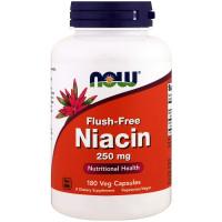 Ніацин (без почервоніння), Now Foods, Niacin, 250 мг, 180 капсул
