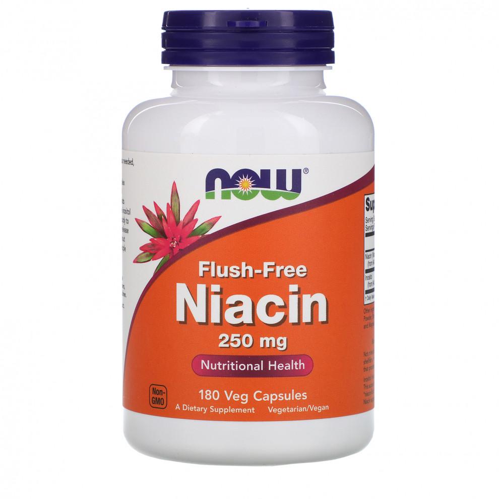 Ниацин (без покраснения), Now Foods, Niacin, 250 мг, 90 капсул