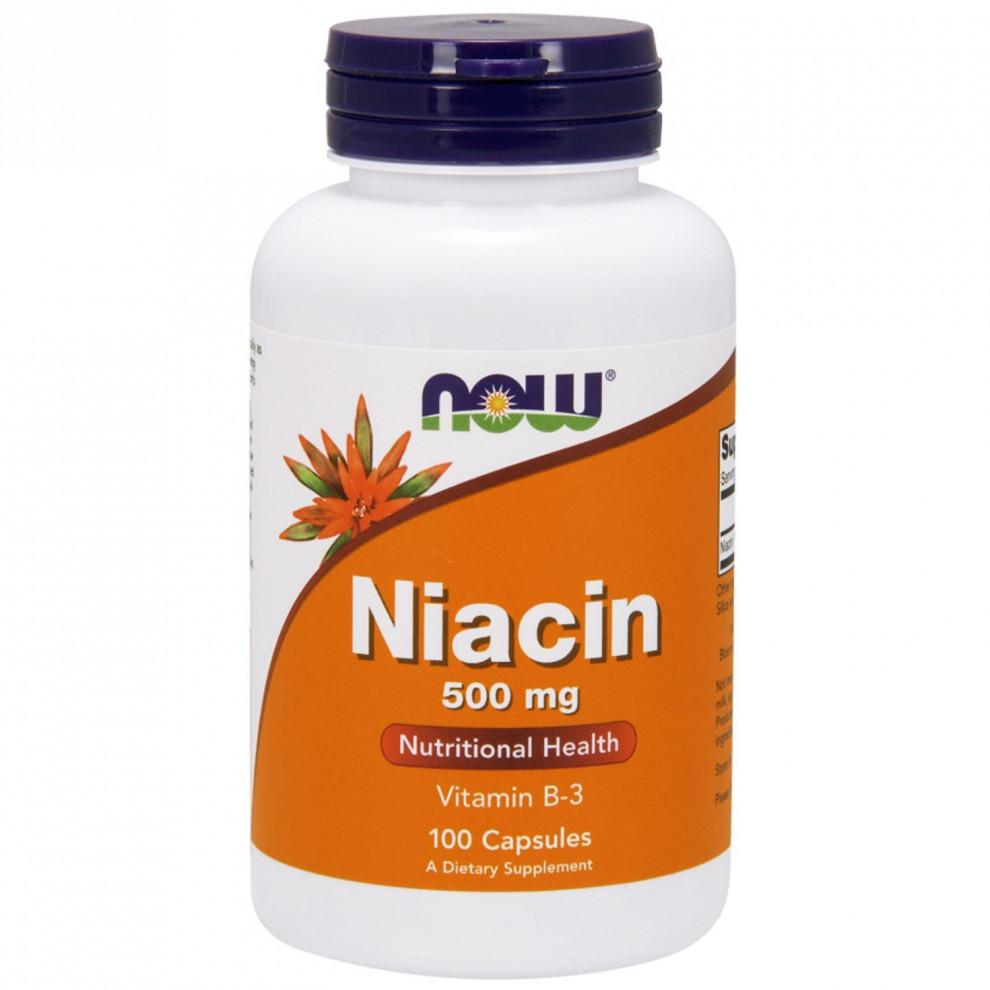 Ніацин (без почервоніння), Now Foods, Niacin, 500 мг, 180 капсул