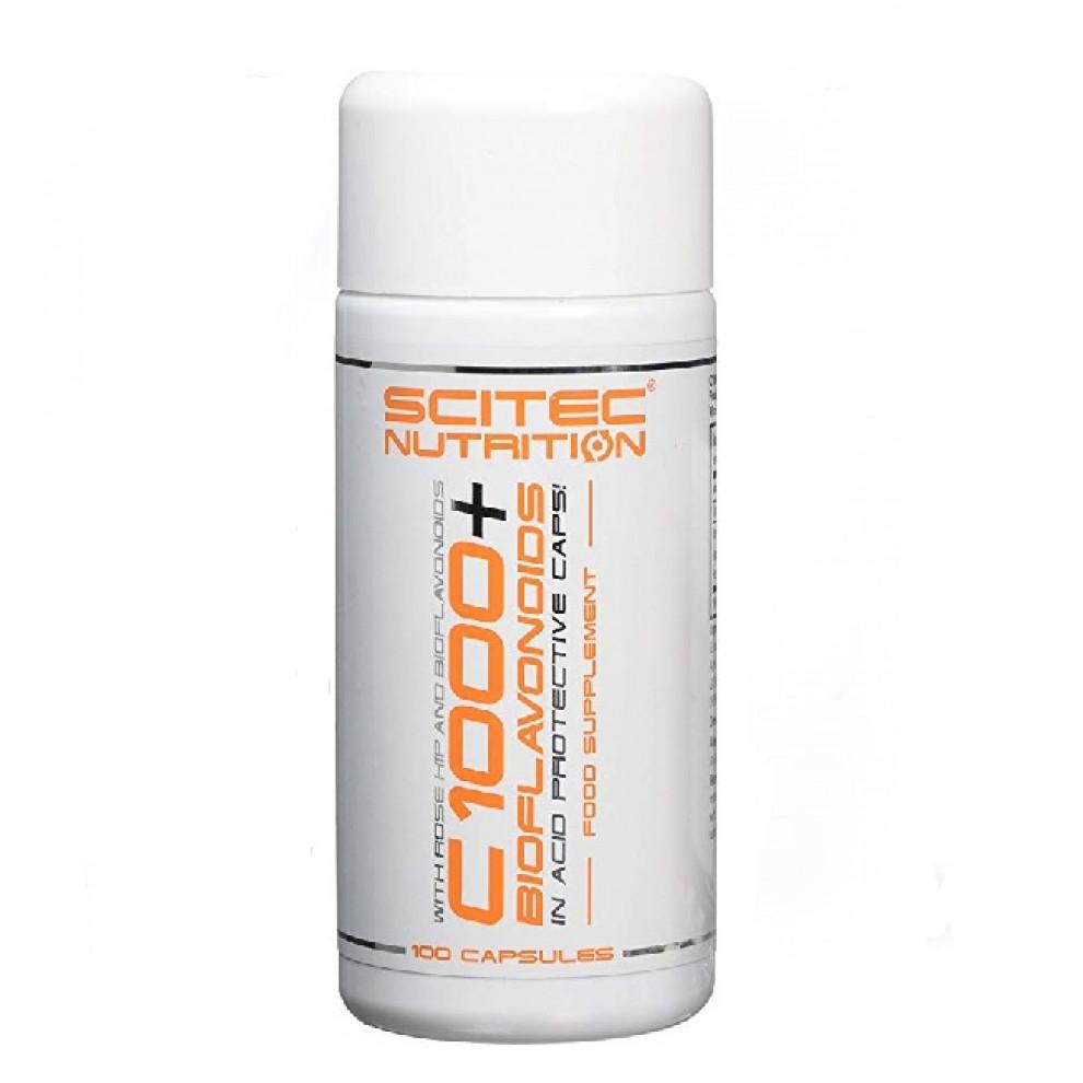 Вітамін С 1000, Scitec, Vita- C 1000 Bioflavonoids, 1000 мг, 100 капсул