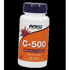 Вітамін С, Now Foods, С-500, 100 таблеток
