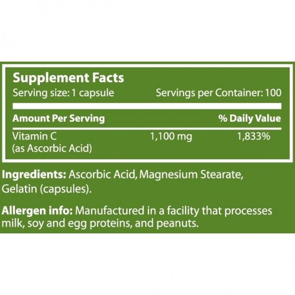 Вітамін С1100, Scitec, Vita- C 1100, 1100 мг, 100 капсул