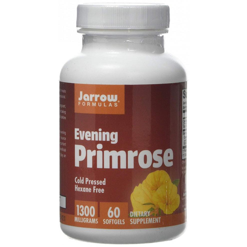 Масло вечерней примулы, Jarrow, Evening Primrose Oil, 1300 мг, 60 капсул