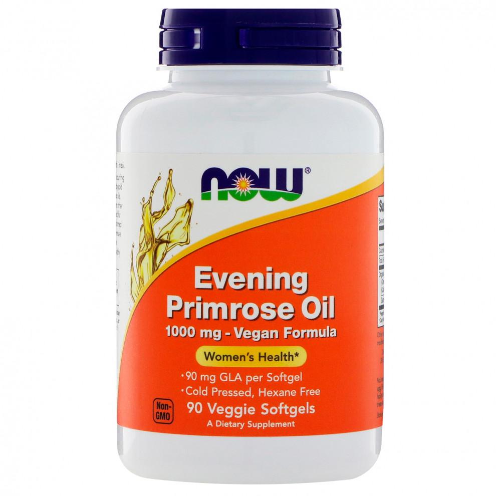 Масло вечерней примулы, Now Foods, Evening Primrose Oil, 1000 мг, 90 капсул
