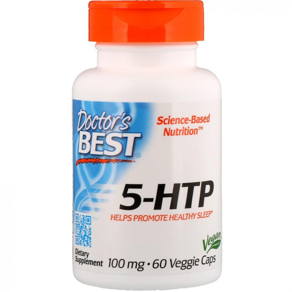 5-гідрокситриптофан, Doctor's Best, 5 HTP, 100 мг, 60 капсул