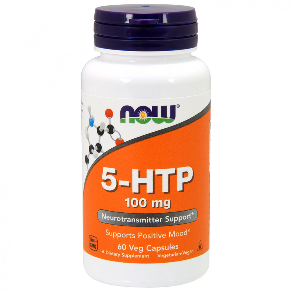5-HTP, Now Foods , 100 мг, 60 капсул