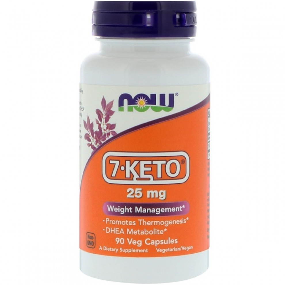 7-Keto, Now Foods, 25 мг, 90 капсул