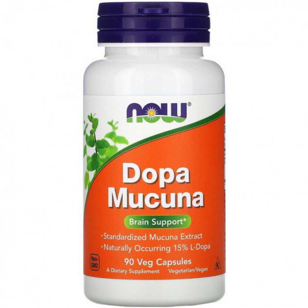 Допа мункуна, Now Foods, Dopa Muncuna, 90 капсул