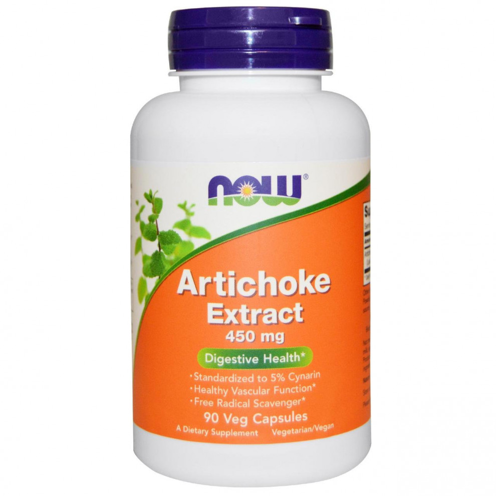 Экстракт артишока, Now Foods, Artichoke Extract, 450 мг, 90 капсул
