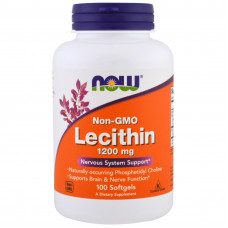 Лецитин без ГМО, Now Foods, Lecithin, 1200 мг, 100 капсул