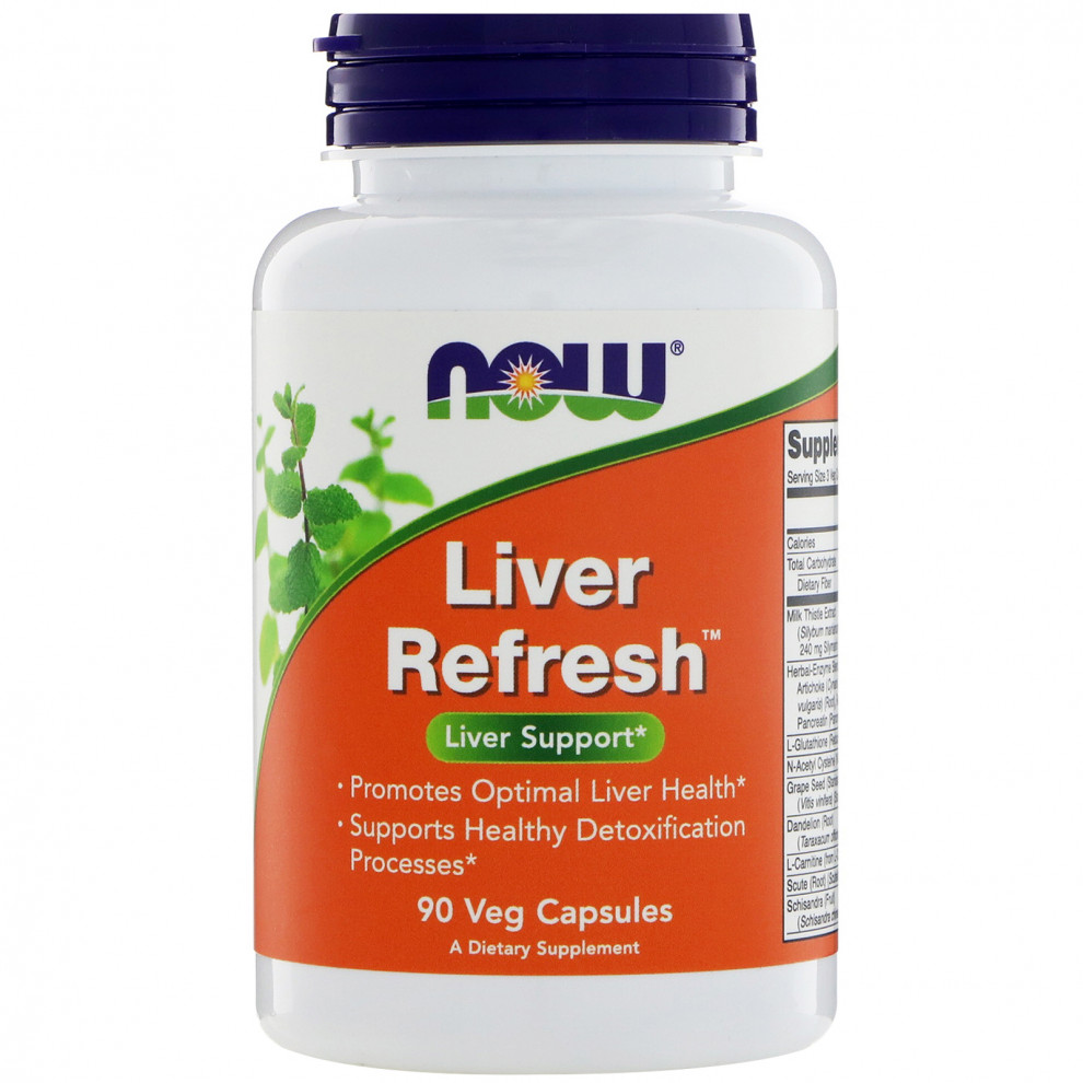 Підтримка печінки, Now Foods, Liver Refresh, 90 капсул