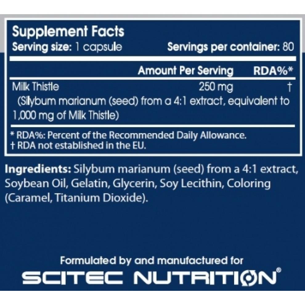 Поддержка печени, Scitec, Liver Support, 250 мг, 80 капсул